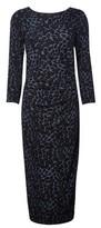 Dorothy Perkins Womens Billie & Blossom Tall Black Glitter Leopard Print Midi Dress, Black