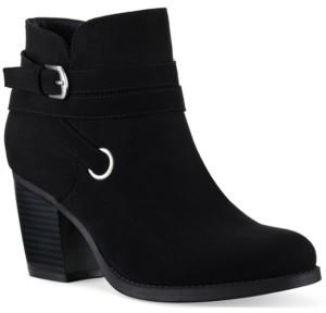 Style&Co. Style & Co Zolaa Block-Heel Booties, Created for Macy's Women's Shoes