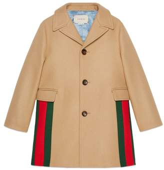 Gucci Children's wool coat with Web