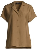 Lafayette 148 New York Beatrice Button-Up Silk Blouse