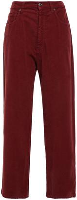 Brunello Cucinelli Cotton-blend Corduroy Wide-leg Pants