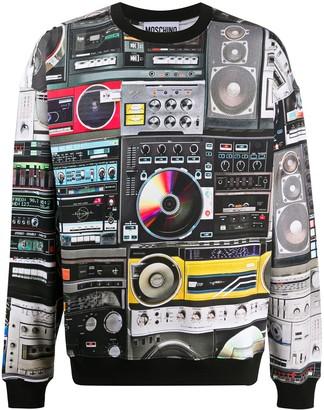 Moschino Stereo-Print Sweatshirt