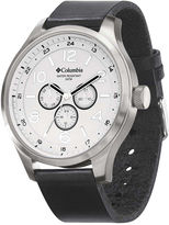 Columbia Skyline Mens Black Leather Lifestyle Watch