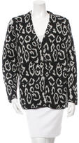 Saint Laurent Leopard Mohair Cardigan