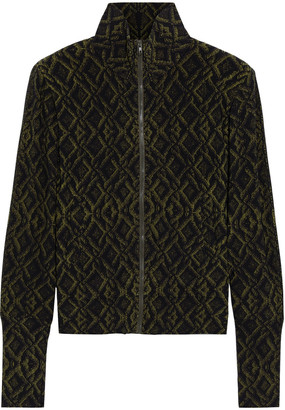 Norma Kamali Printed Stretch-jersey Jacket