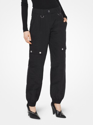 Michael Kors Washed Silk and Cotton-Faille Cargo Pants