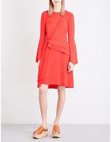Proenza Schouler Wrap-over Crepe Dress