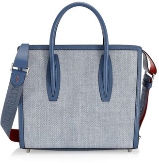 Christian Louboutin Medium Paloma Leather-Trimmed Denim Tote