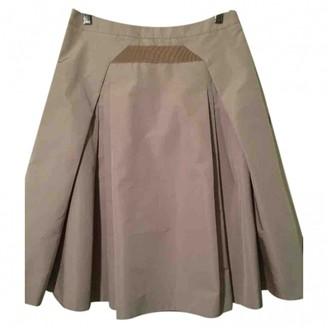 Celine Beige Silk Skirt for Women Vintage