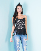 Missy Empire Ada Black Tassel Cami Top