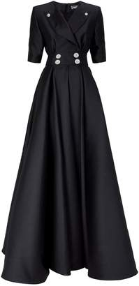 Alexis Mabille Embellished Button Tuxedo Gown