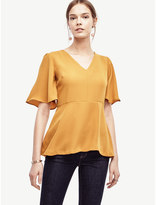 Ann Taylor V-Neck Peplum Top