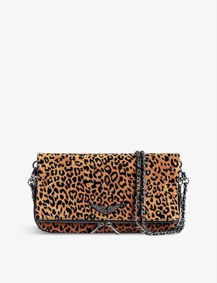 Zadig & Voltaire Rock leopard-print suede cross-body bag