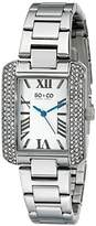 SO&CO New York Women's 5020.1 Madison Crystal-Accented Stainless Steel Watch with Link Bracelet