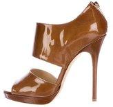 Jimmy Choo Patent Leather Peep-Toe Booties