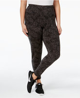 Style&Co. Style & Co. Plus Size Printed Tummy-Control Yoga Leggings, Only at Macy's