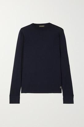Loro Piana Silk And Cotton-blend Sweater - Navy