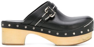 Prada Pre Owned Round Toe Clogs