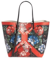 Alexander McQueen Tablecloth Print Open Shopper - Black