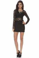 Lovers + Friends Bad Girl Mini in Black Lace