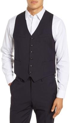 Tiger of Sweden Trim Fit Pinstripe Wool Vest