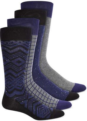 Alfani Men 4-Pk. Printed Socks