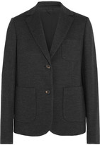 Brunello Cucinelli Wool And Cotton-blend Blazer - Gray