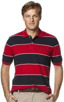 Chaps Big & Tall Classic-Fit Striped Pique Polo