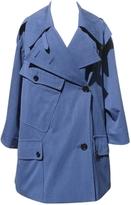 Saint Laurent Blue Cotton Coat