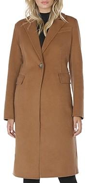 T Tahari Kayla Notched Collar Coat