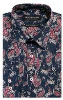 Nick Graham Stretch-Fit Paisley Button-Down Shirt