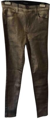 J Brand Gold Cotton - elasthane Jeans for Women