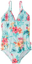 Seafolly Girls' Luau Lu Lu Tank One Piece Swimsuit (2T7) - 8148038