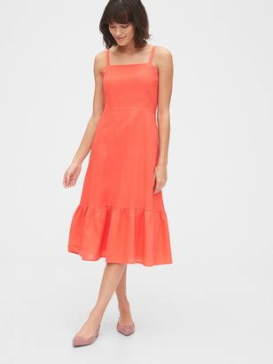 Gap Ruffle Apron Midi Dress