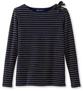 Petit Bateau Womens shiny striped marinière