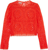 Temperley London Nomi cropped lace top