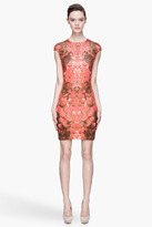 McQ by Alexander McQueen Red and brown floral print stretch Dress