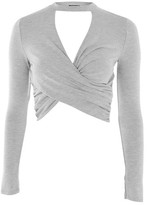Topshop Choker Twist Front Top
