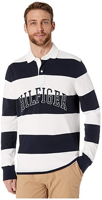 Tommy Hilfiger Adaptive Magnetic Long Sleeve Button Down Shirt in Custom Fit (Bright White) Men's Clothing