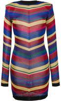 Balmain chevron knit dress - women - Viscose - 42