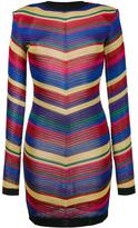 Balmain chevron knit dress