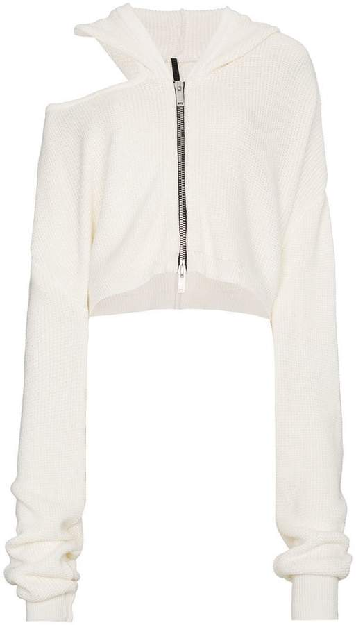 Unravel Project Cut Out Detail Zip Hoodie