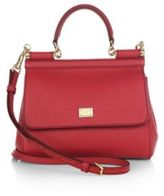 Dolce & Gabbana Small Miss Sicily Leather Top-Handle Satchel
