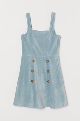 H&M Corduroy velour dress