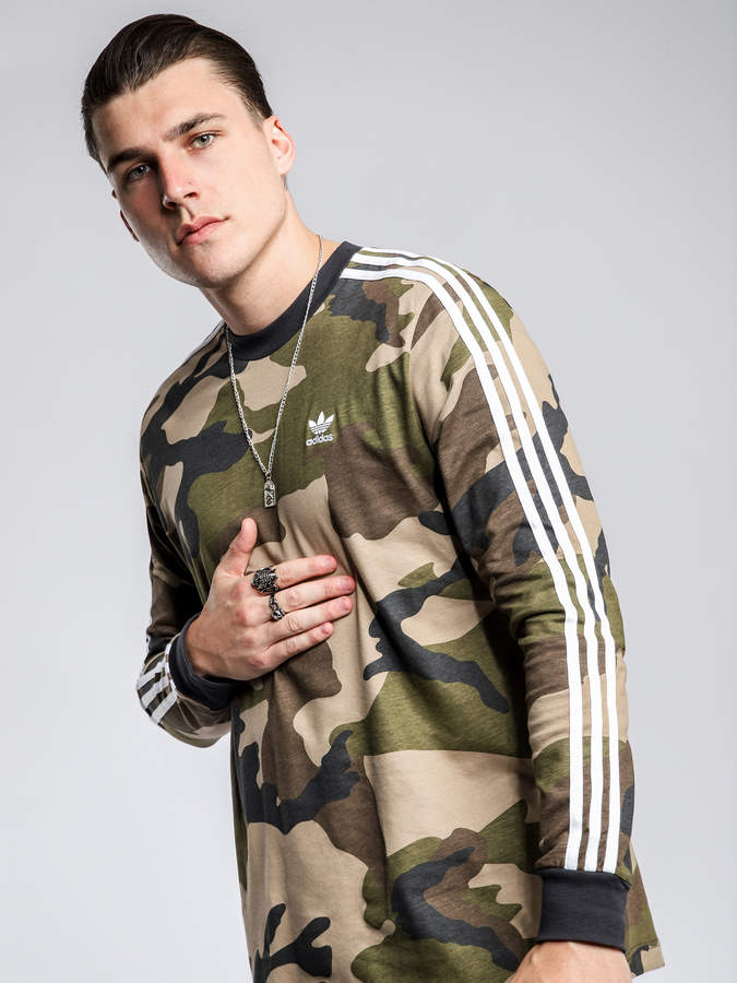 adidas Camouflage T-Shirt in Green