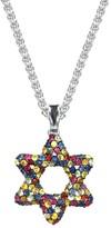 Effy Jewelry Effy 925 Splash Multi Sapphire Star of David Pendant, 3.16 TCW