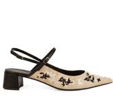 Erdem Aerin embroidered silk sandals