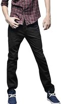 uxcell Men Casual Button Down Slim Fitted Straight Pants Trousers