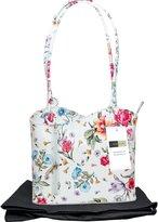 Primo Sacchi Italian Leather, Purple Handbag, Shoulder Bag or Back Pack.r Version. Includes a Branded Protective Storage Bag.