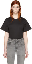 Courreges Black Crewneck T-shirt